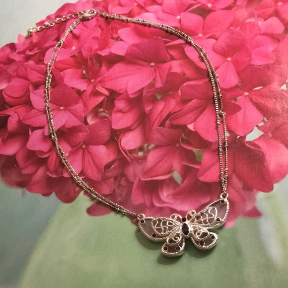 Jill Marie Boutique Jewelry - Butterfly choker necklace NWT